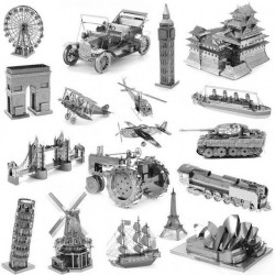 3D металлические пазлы