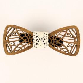 Деревянная бабочка-галстук 02