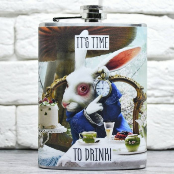 """Фляга """"It's time to drink"""""""