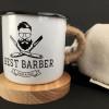 """Эмалированная чашка с принтом """"Best barber"""""""