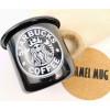 """Эмалированная чашка с принтом """"Starbucks coffee"""""""