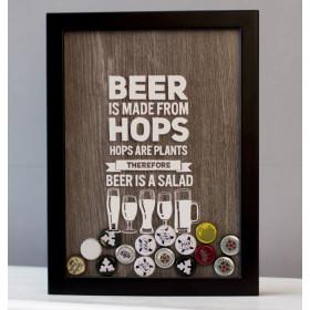 Копилка для пивных крышек Beer is a Salad