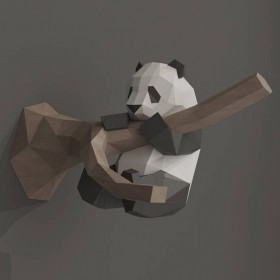 "3Д декорация ""Панда на дереве"""