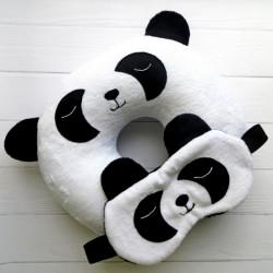 Дорожные подушки под голову, наборы для сна (подушка+маска) в путешествии
